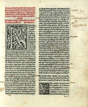 Quadritpartitum - from the Tetrabiblios