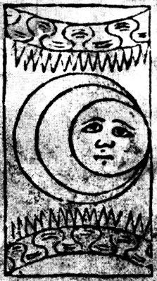 Rosenwald tarot, Moon