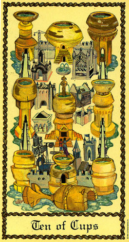 10 of Cups, Scapini Tarot