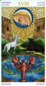 Universal Wirth Tarot, The Moon - Magnus Position
