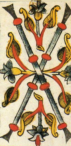 Vieville Tarot: 2 of Wands