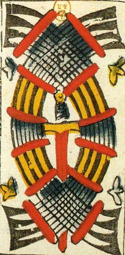 Vieville Tarot: 9 of Swords