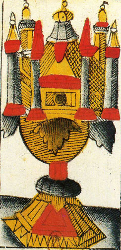 Vieville Tarot: Ace of Chalices