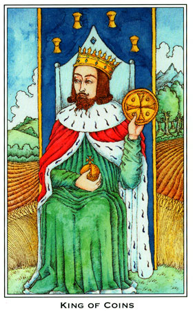 King of Coins, Medieval Enchantment Tarot